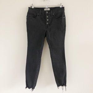 """Madewell Petite 9"""" Skinny Jeans in Berkeley Black"""